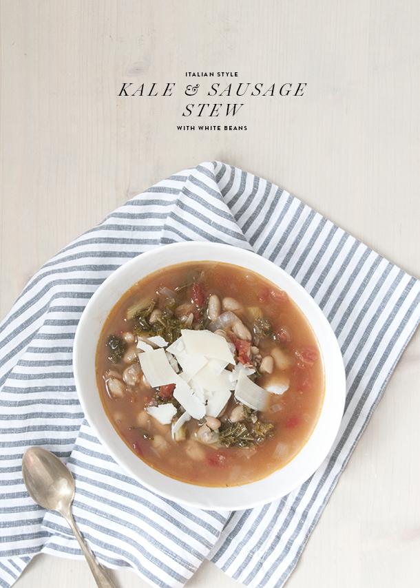 kale sausage and white bean stew