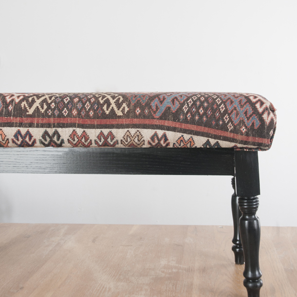 kilim upholstered dining bench sq