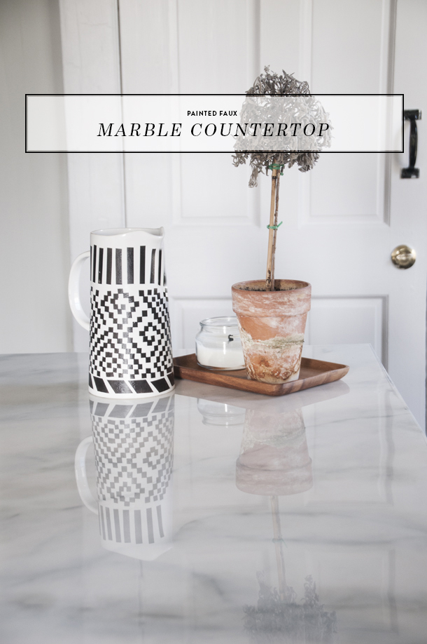 Painted Faux Marble Countertops