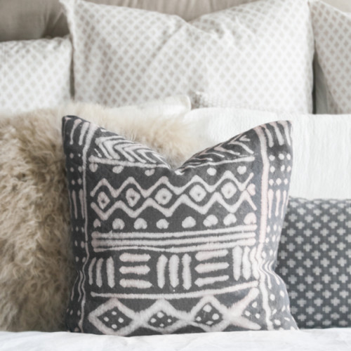 diy mudcloth pillow sq