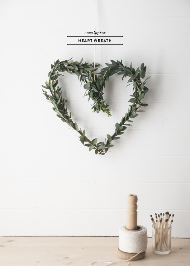 valentines heart wreath diy