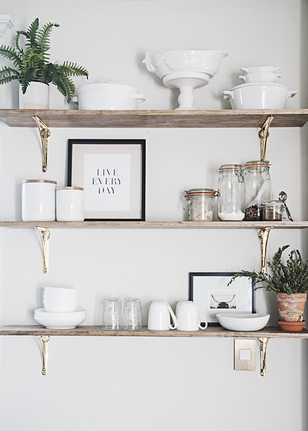 shelves and how you yourself can tackle styling kitchen open shelving