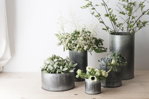 Norah Zinc Vase - Earnest Home co.