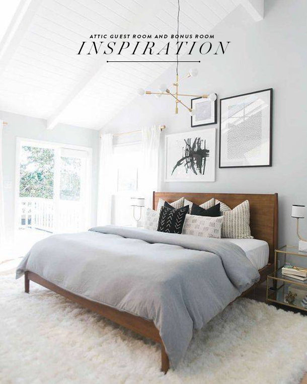 attic bedroom style direction with copy