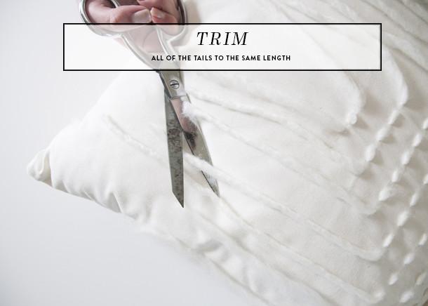 yarn fringe pillow - trim