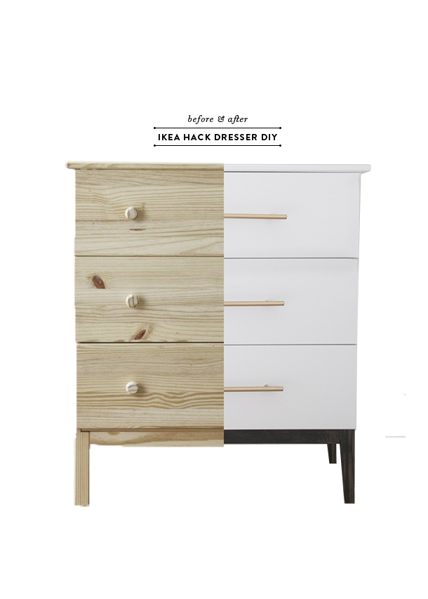 before after ikea tarva dresser diy earnest home co
