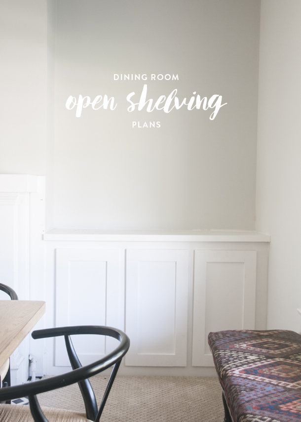 dining room open shelving plans