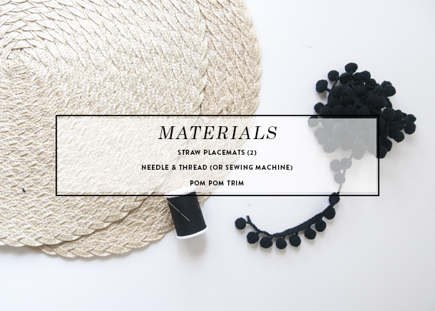 pom pom straw clutch diy materials