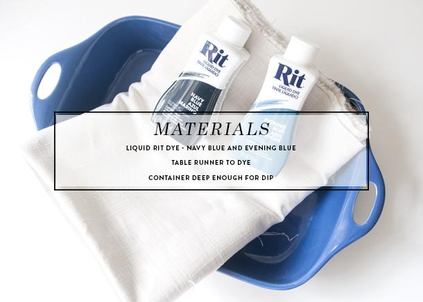 dip dye runner materials