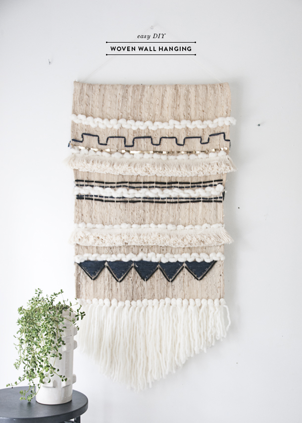 Woven Wall Hangings easy diy woven wall hanging - earnest home co.