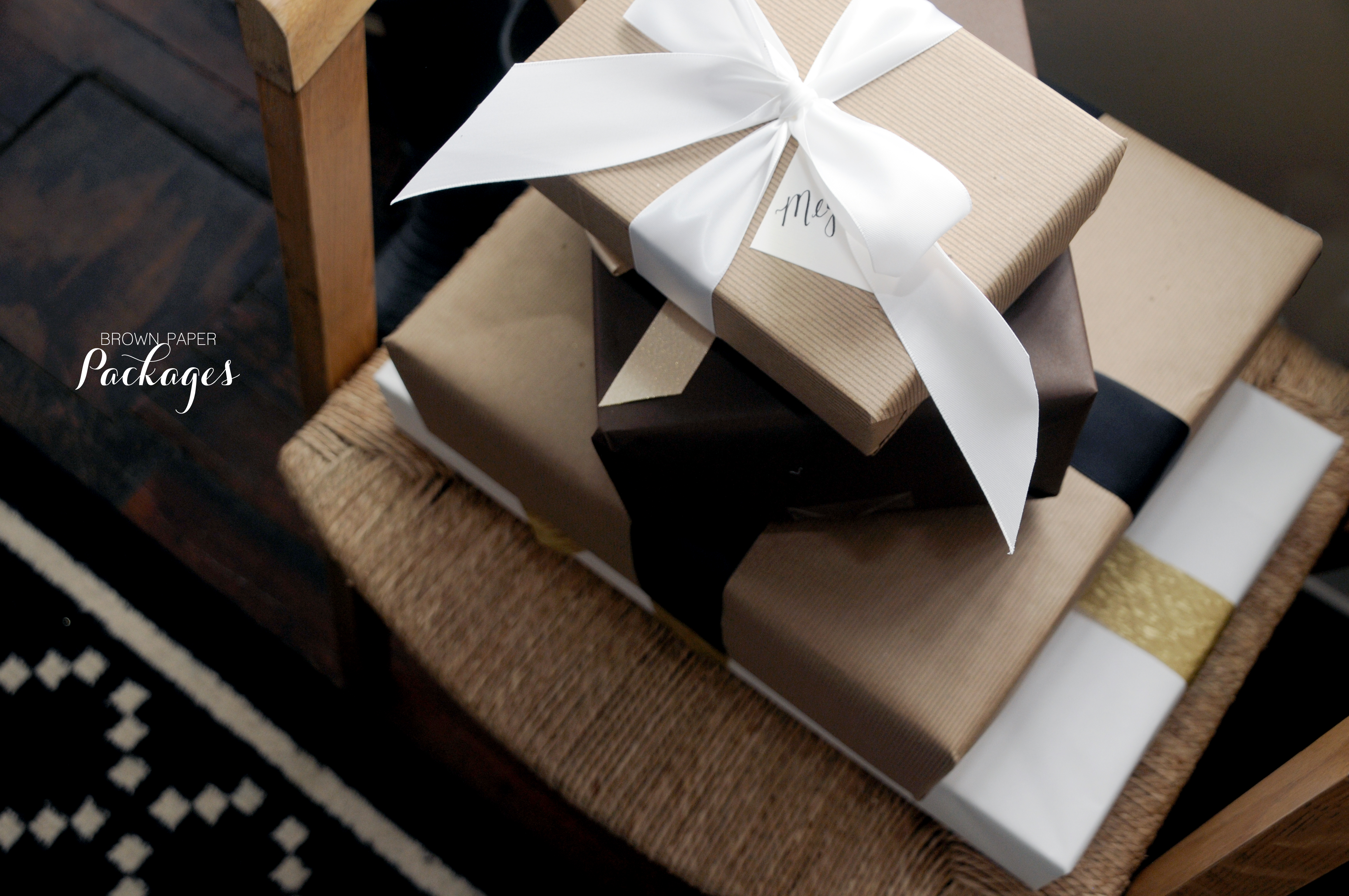 Unique Brown Paper Packages - Earnest Home co. WP08