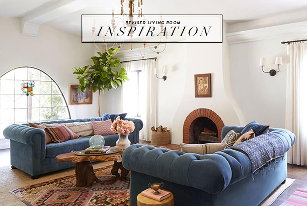 Top Living Room Style Update: Navy Blue Sofa - Earnest Home co. UX93