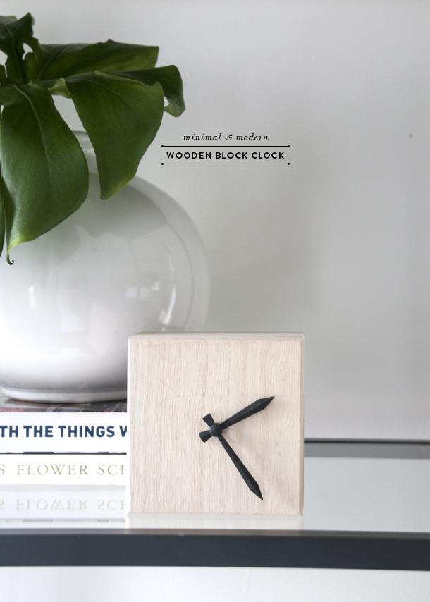 horloge moderne minimale